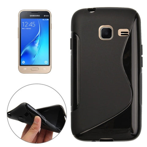 Buy Online  Samsung Galaxy J1 Nxt / J105 S-Shaped Soft TPU Protective Cover Case(Black) Samsung Cases - MEGA Discount Online Store Ghana