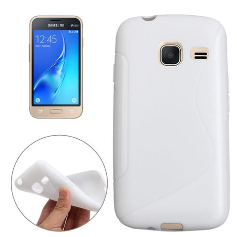 Buy Online  Samsung Galaxy J1 Nxt / J105 S-Shaped Soft TPU Protective Cover Case(White) Samsung Cases - MEGA Discount Online Store Ghana