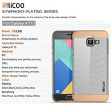 Buy Online  SLiCOO for Samsung Galaxy A7 (2016) / A710 Concise Fashion Separable Dichromatic Brushed Texture Transparent TPU + Electroplating PC Combination Case(Coffee) Samsung Cases - MEGA Discount Online Store Ghana