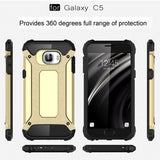 Buy Online  Samsung Galaxy C5 / C500 Tough Armor TPU + PC Combination Case(Black) Samsung Cases - MEGA Discount Online Store Ghana