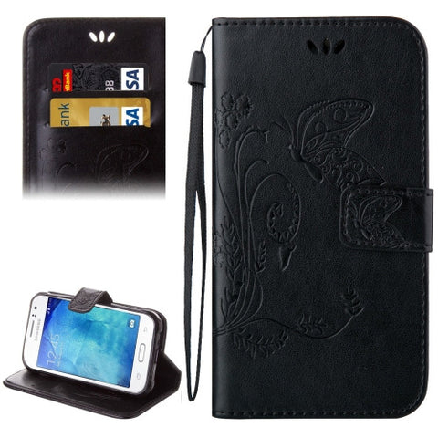 Buy Online  Samsung Galaxy J1 Ace / J110 Crazy Horse Texture Printing Horizontal Flip Leather Case with Holder & Card Slots & Wallet & Lanyard(Black) Samsung Cases - MEGA Discount Online Store Ghana