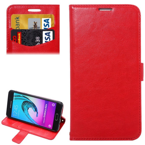 Samsung Galaxy A3(2016) / A310 Lambskin Texture Printing Horizontal Flip Leather Case with Holder & Card Slots & Lanyard (Red) Samsung Cases - MEGA Discount Online Store Ghana