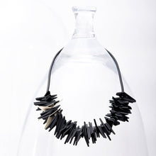 Load image into Gallery viewer, Helix Necklace Black and Gold