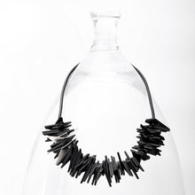 Load image into Gallery viewer, Helix Necklace Black and Silver