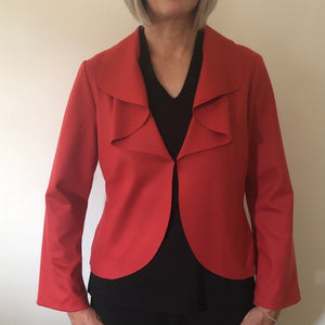 Molly Jacket Coral Felted Wool