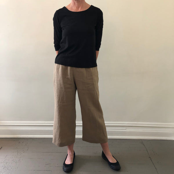 Naddy Pant tan boiled linen