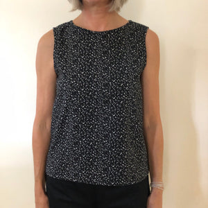 Jayne Top Stretch Cotton Black/White