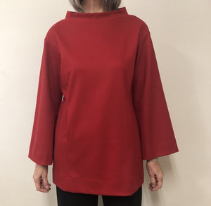 Carrie Tunic Felted Wool Red