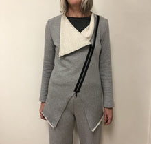 Load image into Gallery viewer, Yumi Sweater light grey cotton terry