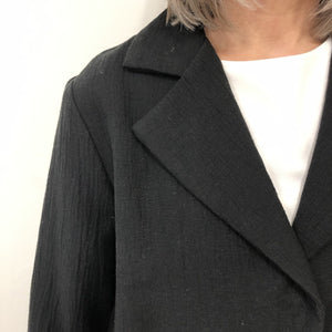 Cali Jacket Black Crinkle cotton