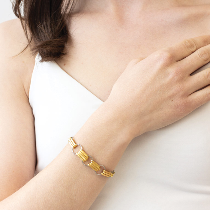 Gretta Bracelet in gold by Anne Marie Chagnon