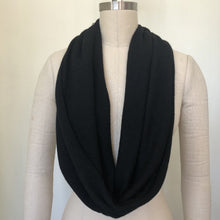 Load image into Gallery viewer, Infinity cashmere scarf black