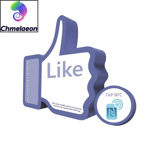 Facebook NFC QR Smart Poster Sticker Like Checkin Social Media