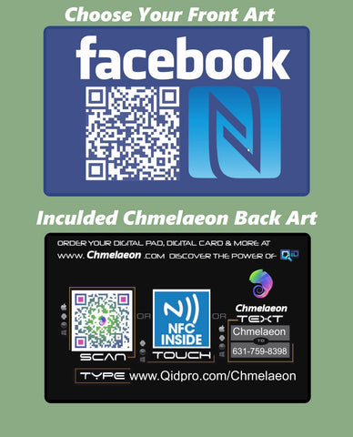 Social media business cards nfc qr code chmelaeon cards reheart Choice Image