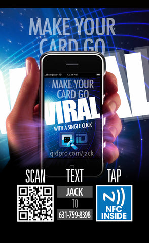 QID Digitial Identity All Your Networks In One Place Includes NFC QR SMS Business Cards
