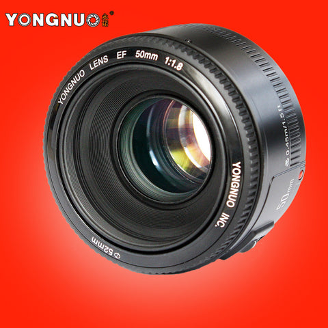 YONGNUO YN 50mm Lens fixed focus lens EF 50mm F/1.8 AF/MF lense Large Aperture Auto Focus Lens For Canon DSLR Camera