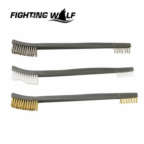 3X Brush Double-end Gun Cleaning Tool Rifle Cleaner Kit Paintball Airsoft Army Durable Stainless Steel Hunting Rifle Accessory
