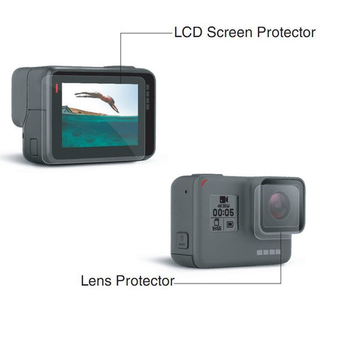 ORBMART Lens and Screen Protector Film For Gopro Hero 5