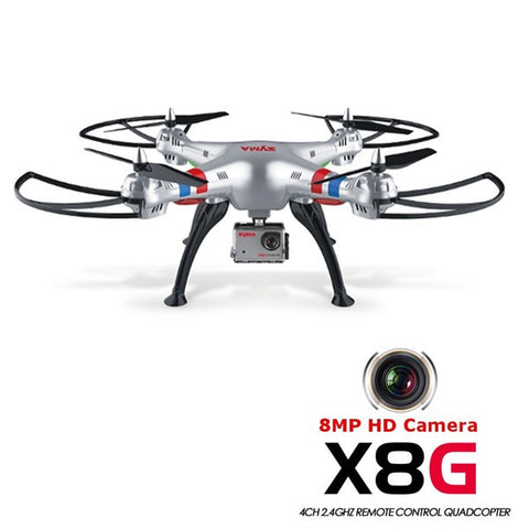 Hot Syma X8G 2.4G 4CH Headless Mode RC Quadcopter Helicopter Drones With 8MP HD Camera Model 2