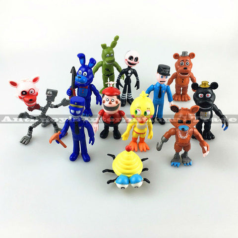 12Pcs/Set FNAF Bonnie Foxy Chica Freddy Fazbear PVC Action Figures Five Nights At Freddy's Toys Doll Brinqudoes Free shipping