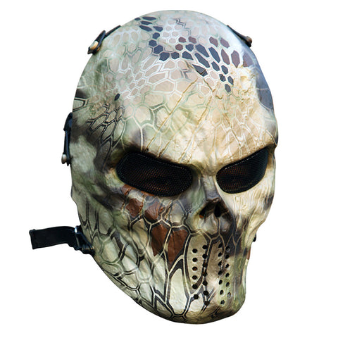 Typhoon Camouflage Hunting Accessories Masks Ghost Tactical Outdoor Military CS Wargame Paintball Airsoft Skull Full Face Mask N