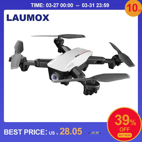 LAUMOX LX100 RC Drone With 4K/1080P HD Camera Optical Flow Positioning WIFI FPV Foldable Quadcopter Helicopter Drones Follow Me