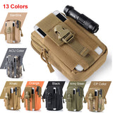 Universal Outdoor Tactical Holster Military Molle Hip Waist Belt Bag Wallet Pouch Purse Phone Case emerso Zipper for iPhone 7 LG