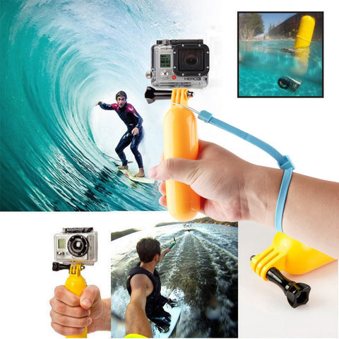 New Go pro  Floaty Floating Hand Grip Handle Mount Accessory Float+Strap For GoPro Hero 3+3 2 1  Wholesale Drop Shipping