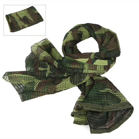 LOOGU Military Camouflage Tactical Mesh breathbale Scarf Sniper Face Veil Scarves For camo Airsoft Hunting Cycling neckerchief