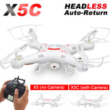 X5C RC Drone with 720P HD Camera Remote Control Quadcopter Helicopter 2.4G Profissional Dron or X5 Drones without camera