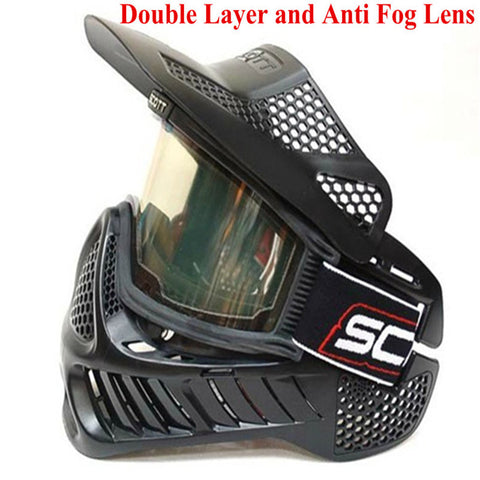 3 PCS / Lot Paintball Mask or airsoft Mask with double lens Goggle