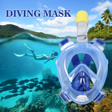 Gopro Camera Anti Fog Diving Mask For Swimming Training Scuba Underwater Diving Full Dry Snorkeling Mask Set With Breathing Tube