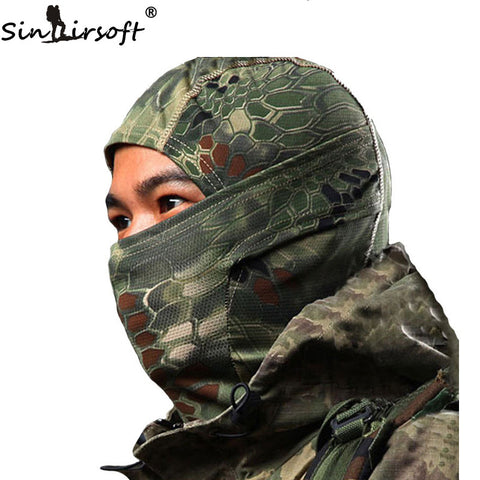 SINAIRSOFT Breathable Chiefs Rattlesnake Cam Tactical Mask Airsoft Paintball Full Face Mask Motorcycle Hunting CS Balaclava