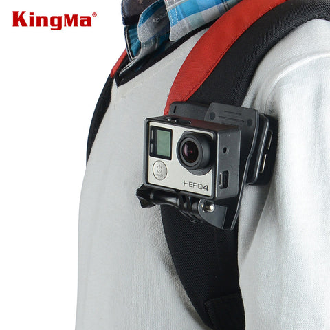KingMa Arrival 360' Rotary Backpack Rec-mounts Clip Fast Clamp Mount For GoPro Hero 5 black/4Session/4/3+/3/2/1/ SJ4000