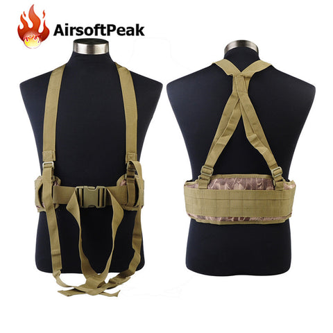 Military Hunting Shooting Wargame Molle Durable Adjustable Tactical Belt Suspenders Men Clothing Accessories Outdoor Sport