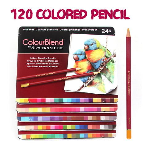Professional 120 Soft Core Colored Pencils Iron Boxed Drawing Colored Pencil Lapis De Cor for School Art Student Supplies