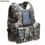 LEMOCHIC outdoor Camouflage amphibious Tactical ves Hunting Airsoft molle Counterterrorism Military Protective Training combat