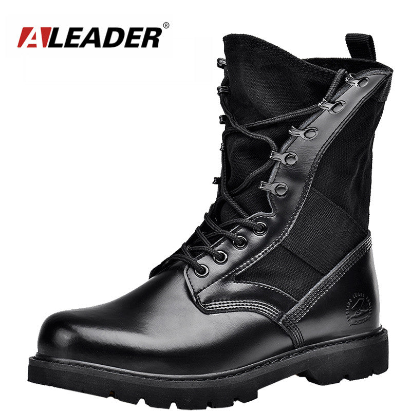 4cb7449c164 Aleader Waterproof Military Men Boots Winter Men Motorcycle Mid-Calf Martin  Casual Boots Outdoor Army