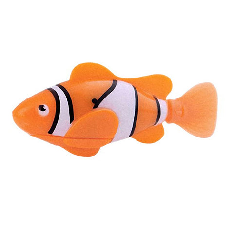 Funny Swim Electronic Robofish Toys Activated Battery Powered Robo Toy fish Robotic Pet for Fishing Tank Decorating Fish