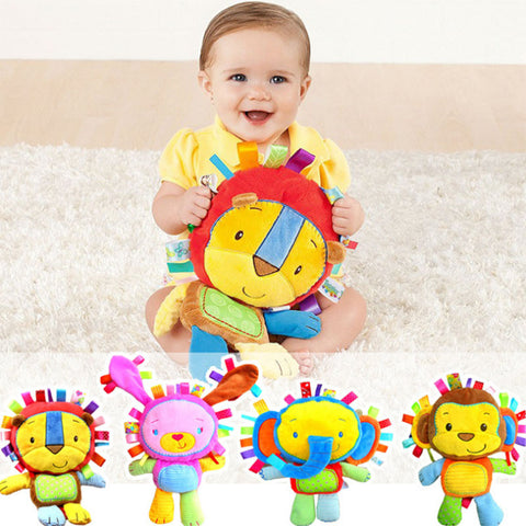 Baby Plush Toys 2017 Hot Sale Plush Toys With Rattles BB Device Appease Dolls Monkey Elephant Lion Rabbit Drop Shipping HT2734