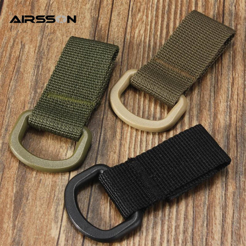 Military Multifunctional High Strength Nylon Molle Webbing Clambing Belt D-Ring Carabiner Buckle Hanging Chain Backpack Key Hook