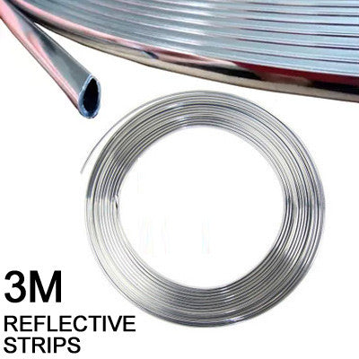 HUANLISUN 3m U Style decoration strip Grille Chrome car Automotive air conditioning outlet blade car styling tuyeres