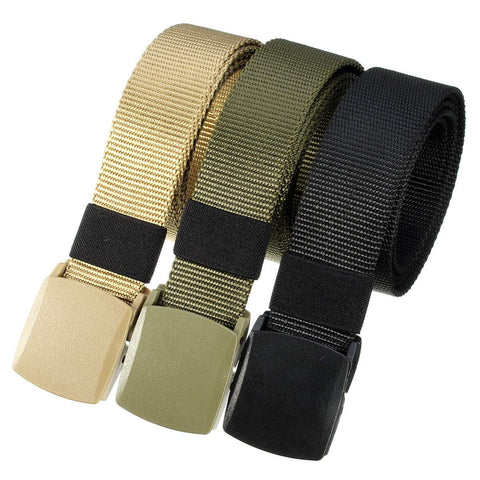 Quick-drying Automatic Buckle Polyester adjustable Belt Army Tactical Hunting Waistband Outdoor Military Rescue outdoor tools