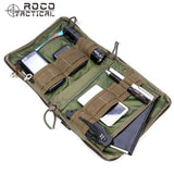 ROCOTACTICAL MOLLE EDC Military Low Profile OP Military Utility Accessories Bag Tactical Organizer Stealth Admin Organizer Pouch