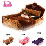 Luxury Princess dog puppy sofa bed kennel soft warm dog pet cat House cushion washsble 3 pieces set (Pet bed + pillow + blanket)
