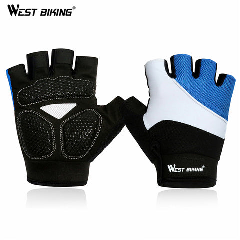 WEST BIKING Half Finger Cycling Gloves Mens Summer Sports Motorcycle Gloves Luvas Guantes Ciclismo Mountain Bikes Bicycle Gloves