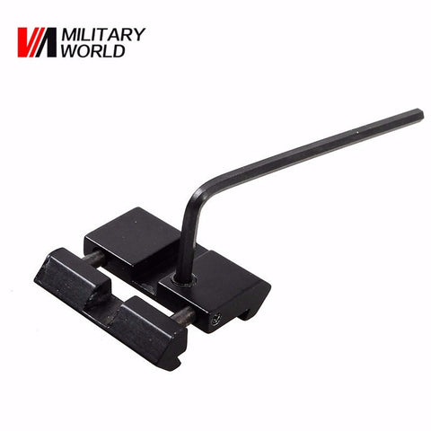 Military Dovetail to Weaver Picatinny Adapter Snap In Rail Adapter 11mm to 22mm Adapter Hunting Rifle Scope Mounts Accessory
