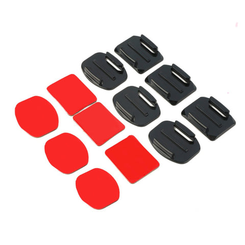HOT SALE ! 2016 NEW 12Pcs Helmet Accessories Flat Curved Adhesive Mount For Gopro Hero 1/2/3 /3+,IN STOCK! Drop Shipping