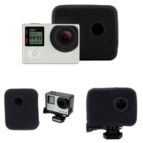 New Sponge Foam Wind Noise Reduction Windshield Windproof For Gopro For Hero 4 3+ 3 Wholesale Drop Shipping