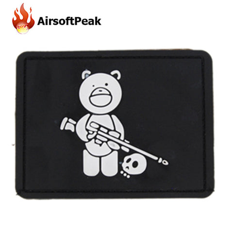 Bear PVC Patch Airsoft Sports Military Tactical Clothes Backpack Badges 3D Rubber Patches Hunting Accessory Patch For Clothing